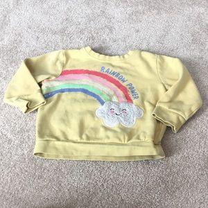 Yellow Rainbow Sweater 3T